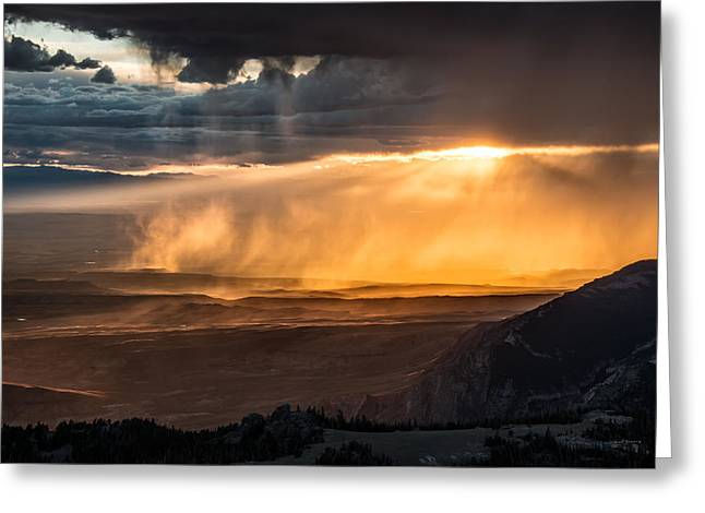 Storm Light Greeting Card by Leland D Howard