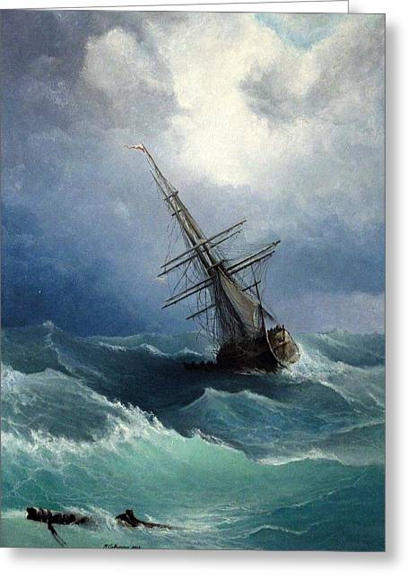 Masts Greeting Cards - Storm Greeting Card by Mikhail Savchenko