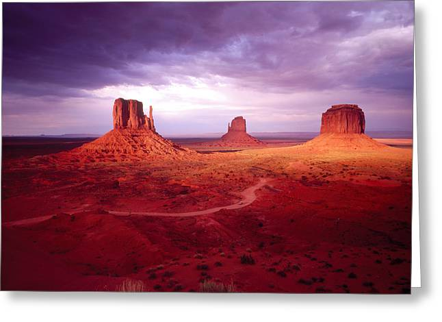Navaho Greeting Cards - Storm Monument Valley Ut  Az Usa Greeting Card by Panoramic Images