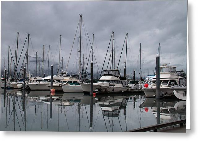 Masts Greeting Cards - Storm Moving In Greeting Card by Doc Roberts