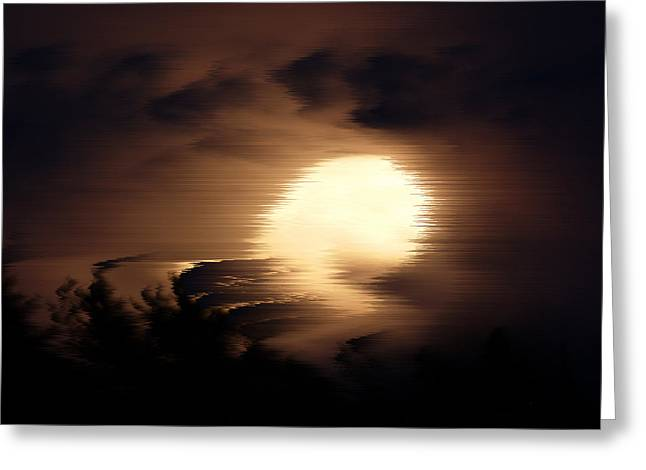 Poster Art Greeting Cards - Storm night Greeting Card by Jb Atelier