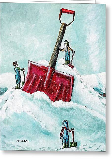 Winter In Maine Greeting Cards - Storm of the Century Greeting Card by Shana Rowe