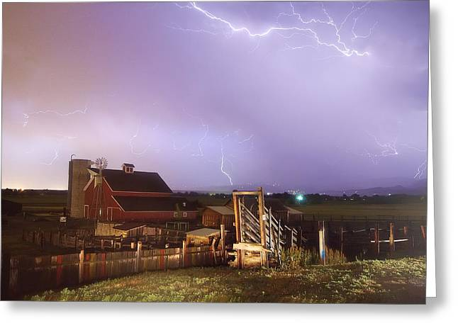 Agricultural Heritage Center Greeting Cards - Storm on The Farm Greeting Card by James BO  Insogna