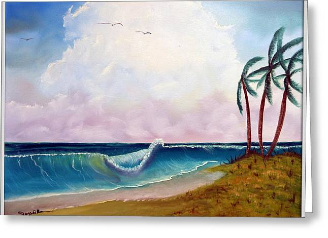 Storm On The Horizon Greeting Card by Joyce Krenson