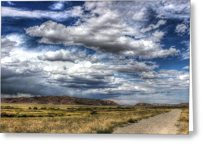 Sweetwater Greeting Cards - Storm on the Move Greeting Card by Vikki Correll