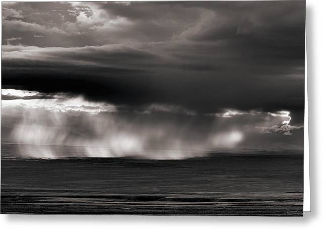 Storm Over Bighorn Basin Greeting Card by Leland D Howard