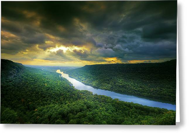 Storm Over Edwards Point Greeting Card by Steven Llorca