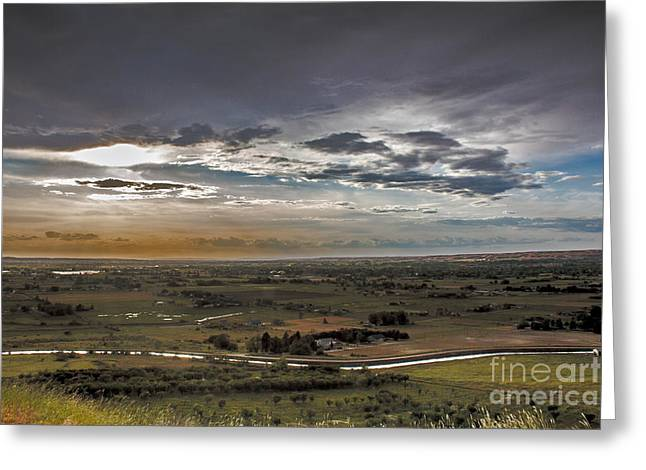 Haybale Greeting Cards - Storm Over Emmett Valley Greeting Card by Robert Bales
