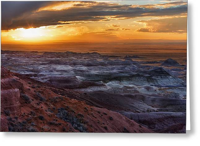 Watson Lake Greeting Cards - Storm Over Little Painted Desert Greeting Card by Alex Mironyuk