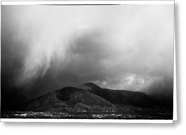 Film Noir Photographs Greeting Cards - Storm Over Mt Paul Greeting Card by Theresa Tahara