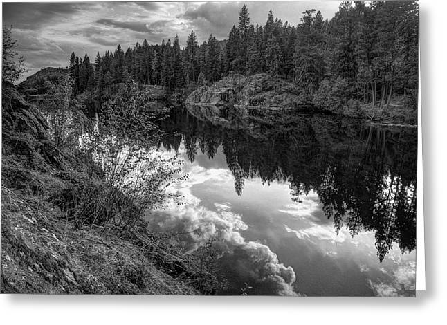 Spokane Greeting Cards - STORM over RED LAKE Greeting Card by Daniel Hagerman