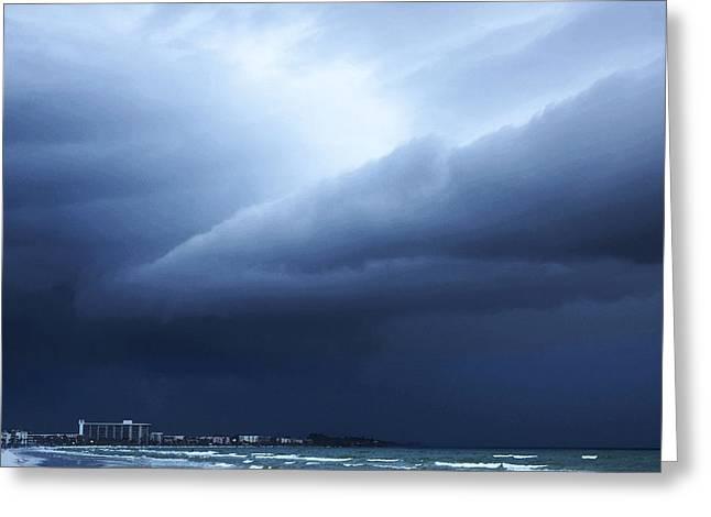 Storm Over Siesta Key - Beach Art By Sharon Cummings Greeting Card by Sharon Cummings