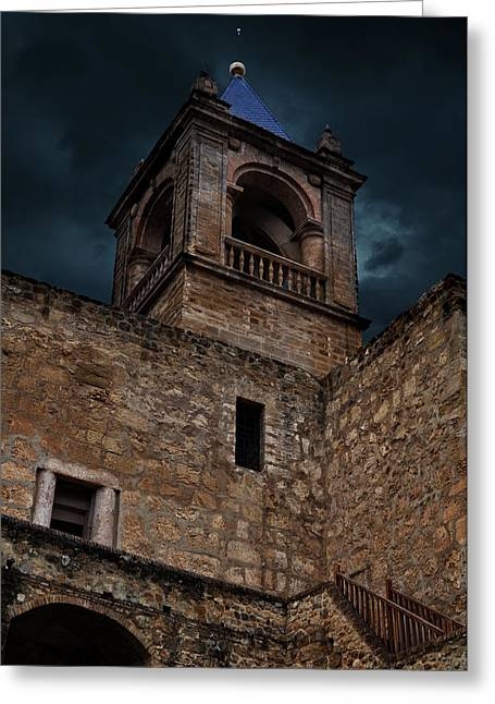 Stones Greeting Cards - Storm Over The Alcazaba - Antequera Spain Greeting Card by Mary Machare