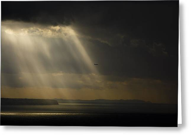 Ocen Landscape Greeting Cards - Storm Over The Bay Greeting Card by Emilio Lopez