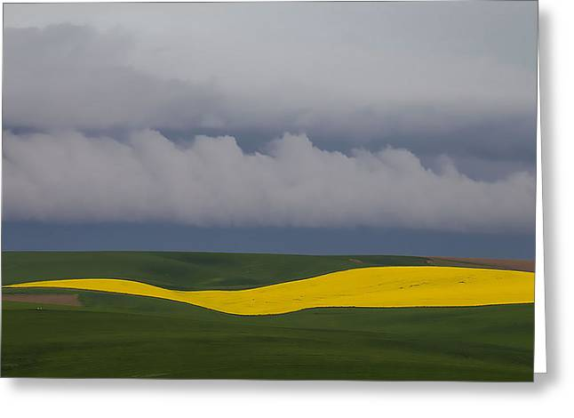 Stream Greeting Cards - Storm over the horizon Greeting Card by George Herbert