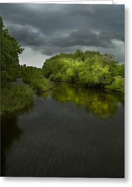 Fort Collins Greeting Cards - Storm over the Poudre Greeting Card by Michael Van Beber