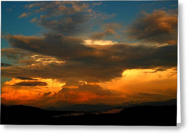 Thunderstorm Greeting Cards - Storm Over The Smokies Greeting Card by Michael Eingle