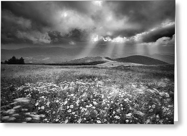 Clounds Greeting Cards - Storm Over Whitetop Mountain Greeting Card by Steven Llorca
