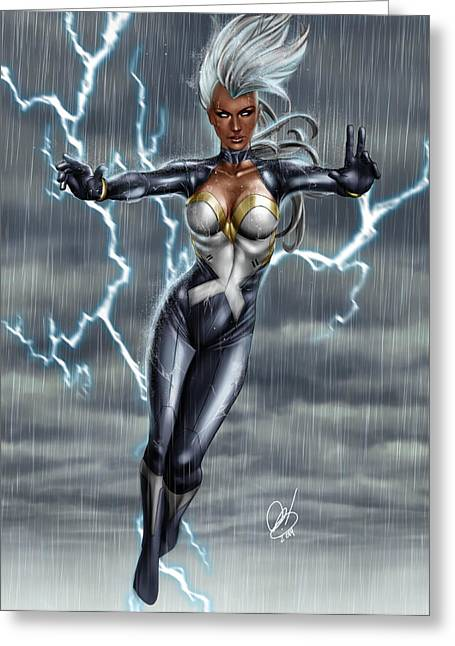 Latex Greeting Cards - Storm Greeting Card by Pete Tapang
