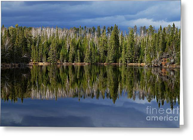 Boundary Waters Greeting Cards - Storm Reflections Greeting Card by Larry Ricker