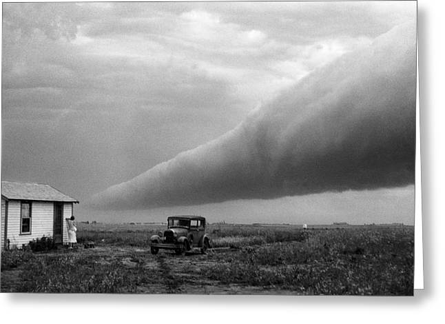 Mid West Landscape Art Greeting Cards - Storm Roll Cloud Greeting Card by Donald  Erickson