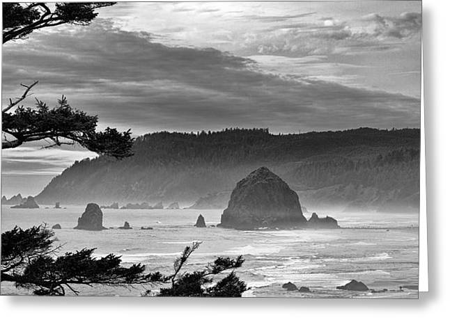 Cannon Beach Greeting Cards - Storm Rolling In Greeting Card by Andrew Soundarajan