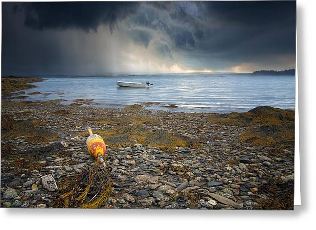 Maine Landscape Greeting Cards - Storm Rolls In Greeting Card by Darylann Leonard Photography