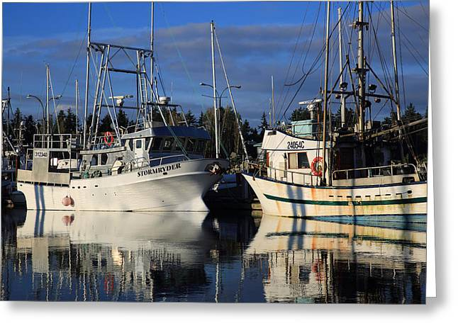 French Creek Marina Greeting Cards - Storm Ryder Greeting Card by Randy Hall