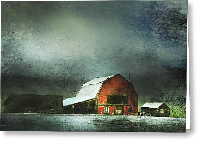 Outbuildings Greeting Cards - Storm Greeting Card by Theresa Tahara