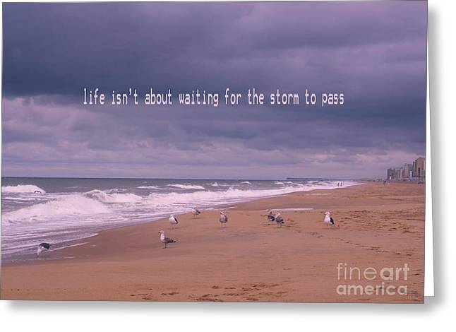 Virginia Beach Greeting Cards - Storm to Come Greeting Card by Irina Wardas
