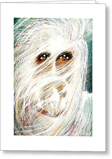 Thomas Pastels Greeting Cards - STORM Pastel Eikons of Christ Greeting Card by Vicki Thomas