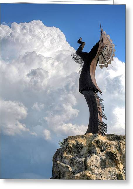 Native American Sculptures Photographs Greeting Cards - Storm Watcher  Greeting Card by JC Findley
