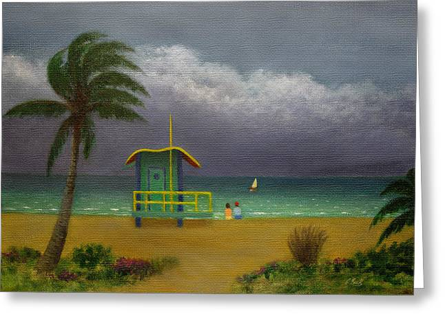 Storm Watchers Greeting Card by Gordon Beck
