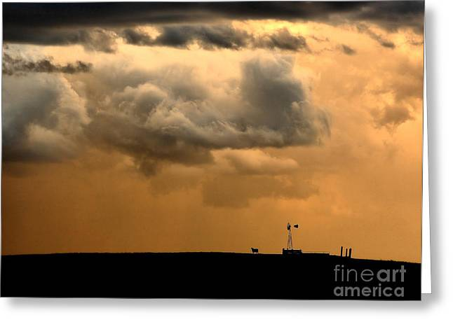Prairie Style Greeting Cards - Storms a Brewing Greeting Card by Steven Reed