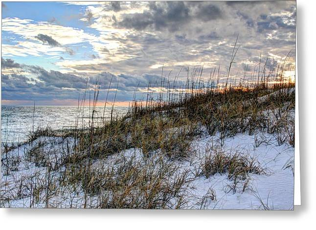 Florida Panhandle Greeting Cards - Storms out on the Gulf Stream Greeting Card by JC Findley