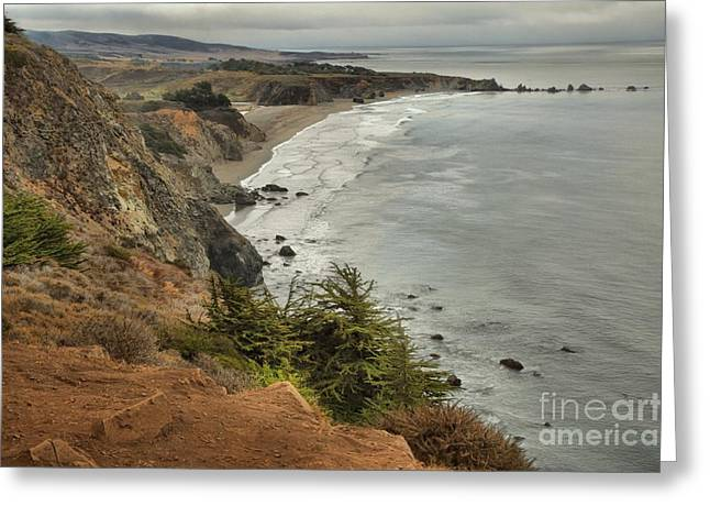 Big Sur California Greeting Cards - Storms Over A Rugged Coast Greeting Card by Adam Jewell