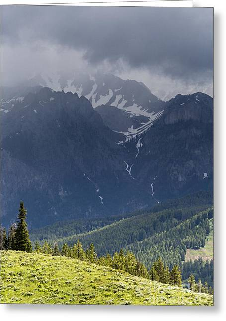 Bridger Teton Greeting Cards - Storms Over Gros Ventre Mountains Greeting Card by Mike Cavaroc