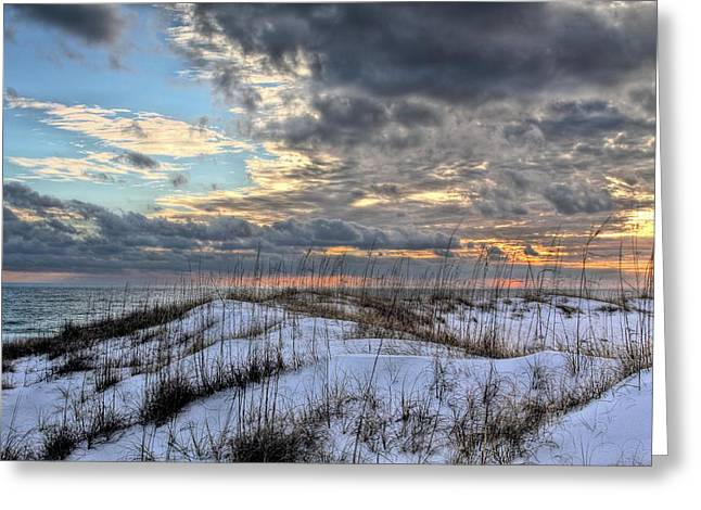 Florida Panhandle Greeting Cards - Storms Over the Dunes Greeting Card by JC Findley