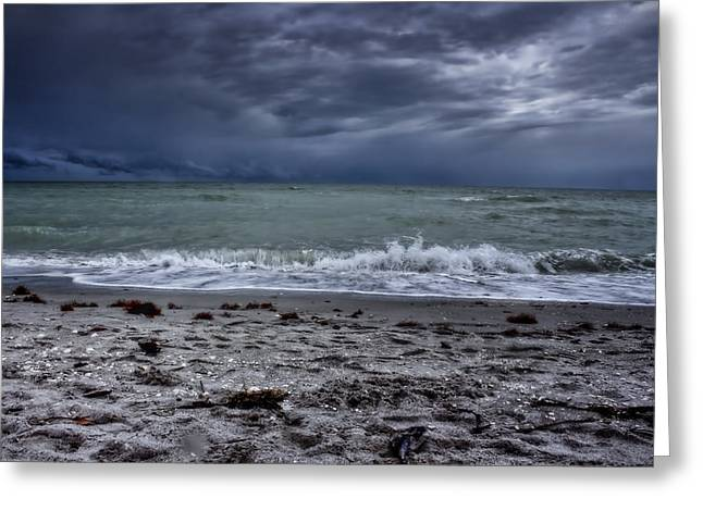 Conditions Greeting Cards - Storms Rolling In Greeting Card by Ellen Heaverlo