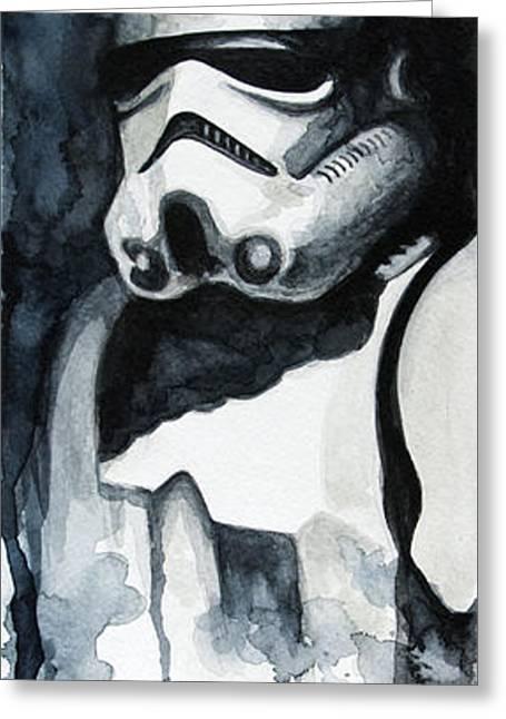 Stormtrooper Greeting Card by David Kraig