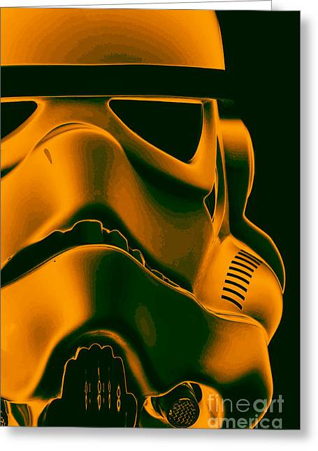 Science Fiction Greeting Cards - Stormtrooper Helmet 10 Greeting Card by Micah May