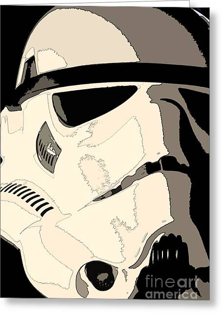 Science Fiction Greeting Cards - Stormtrooper Helmet 103 Greeting Card by Micah May