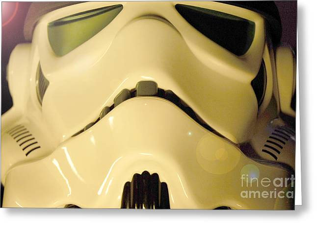 Science Fiction Greeting Cards - Stormtrooper Helmet 105 Greeting Card by Micah May