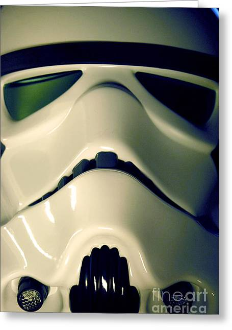 Science Fiction Greeting Cards - Stormtrooper Helmet 106 Greeting Card by Micah May