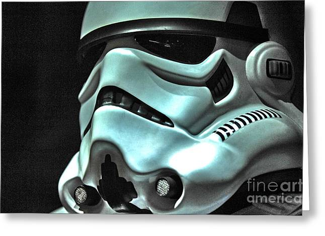 Science Fiction Photographs Greeting Cards - Stormtrooper Helmet 11 Greeting Card by Micah May
