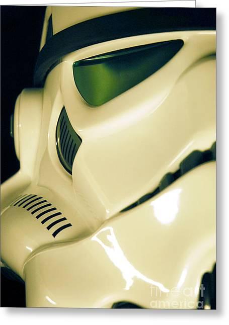Movie Prop Greeting Cards - Stormtrooper Helmet 111 Greeting Card by Micah May