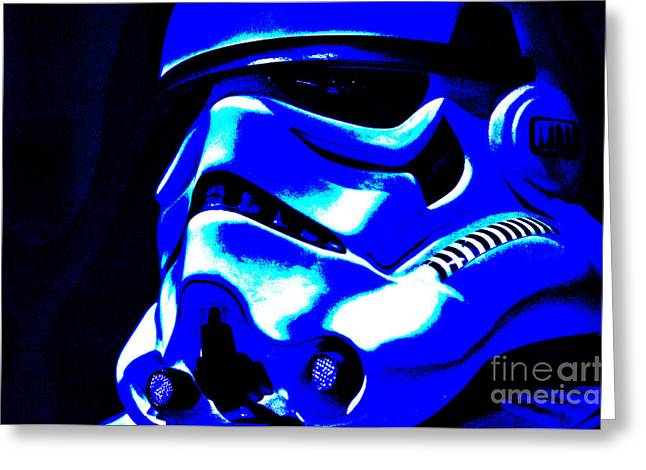 Science Fiction Greeting Cards - Stormtrooper Helmet 22 Greeting Card by Micah May
