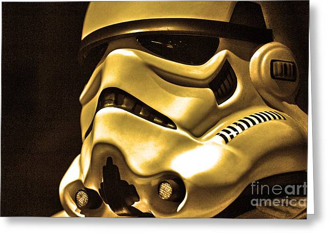 Science Fiction Photographs Greeting Cards - Stormtrooper Helmet 24 Greeting Card by Micah May