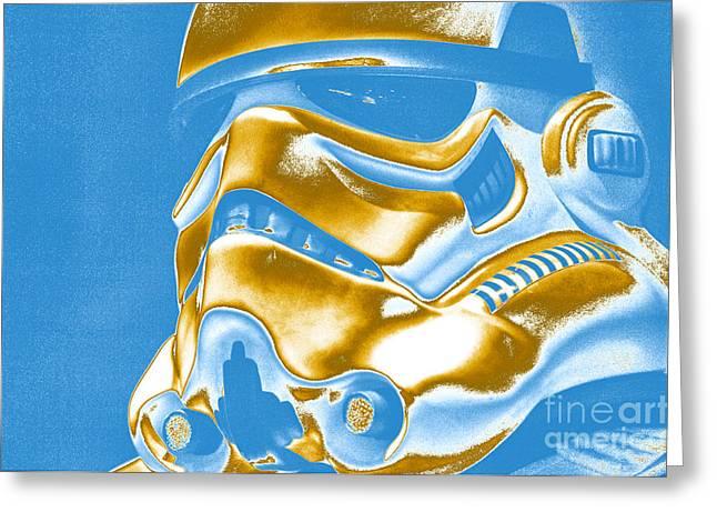 Movie Prop Greeting Cards - Stormtrooper Helmet 30 Greeting Card by Micah May