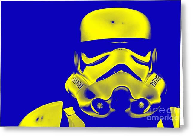 Movie Prop Greeting Cards - Stormtrooper Helmet 33 Greeting Card by Micah May